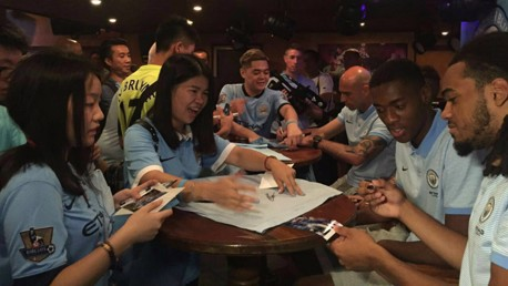 MEET AND GREET: Tosin, Willy and Jason proved popular in Shenzhen.