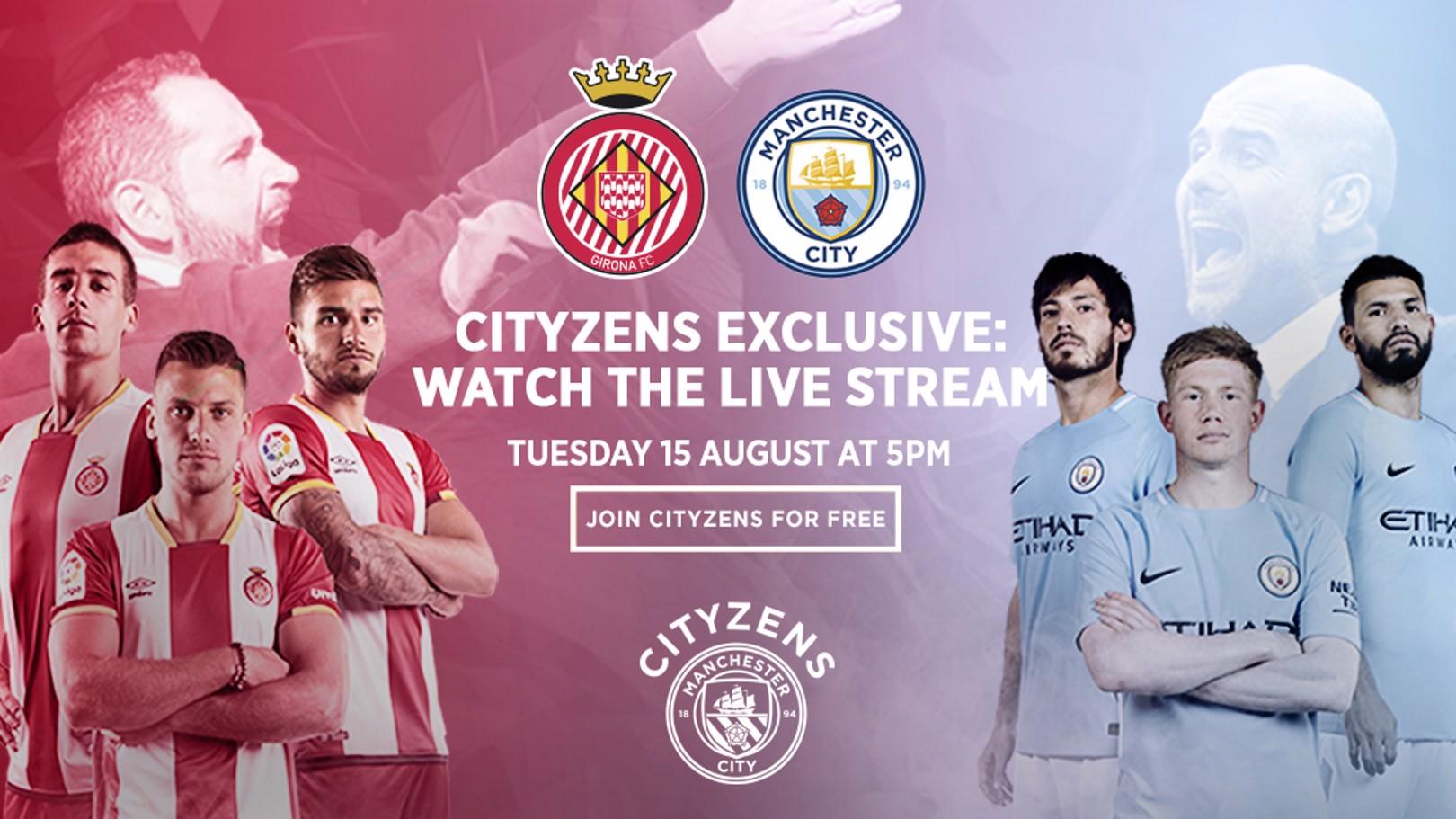 Girona - Manchester City, en directo y exclusiva para Cityzens.