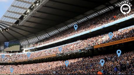 Forma parte de la foto de 360º en el Etihad Stadium.