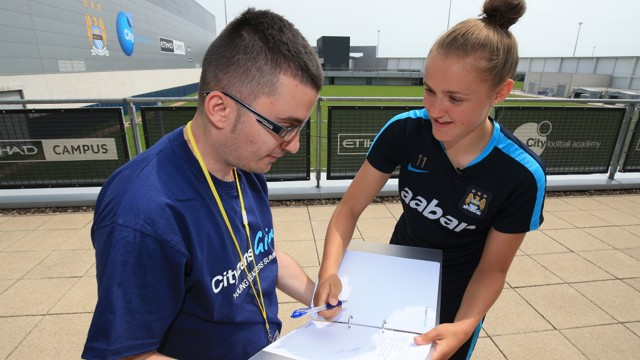 James with MCWFC star Georgia Stanway.
