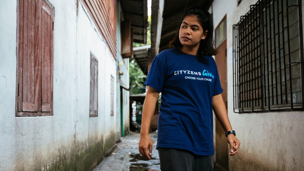 YOUNG LEADER: Jenjira from the Not Just For Kicks Cityzens Giving project.