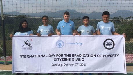 END POVERTY: City in the Community Coaches in Bandung, Indonesia.