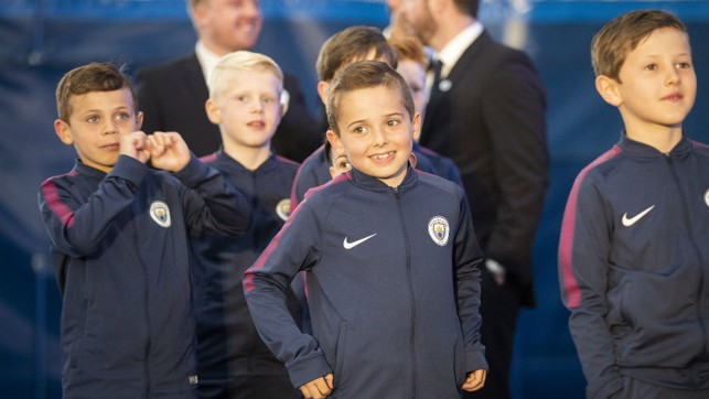 YOUNG GUNS: Some of our younger Blues at the awards evening.