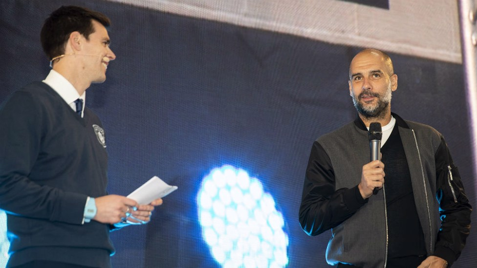 GUEST APPEARANCE: Pep Guardiola dropped by to the awards.