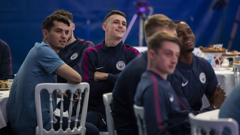 DUO: Phil Foden and Brahim Diaz with the EDS.