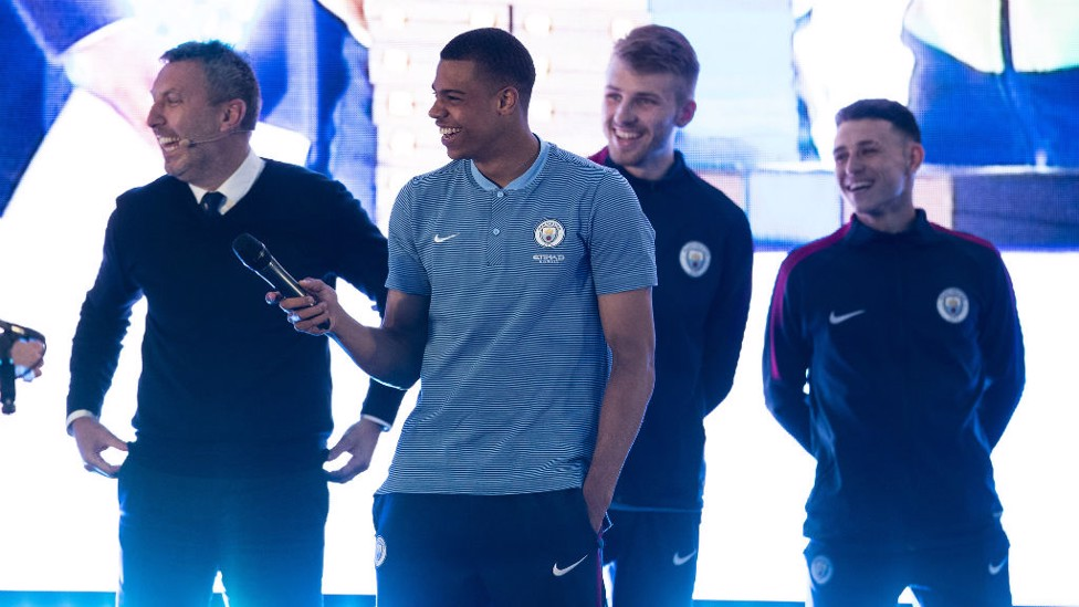 FIRST TEAM STARS: Lukas Nmecha, Phil Foden and Dan Grimshaw all made the move up this season.