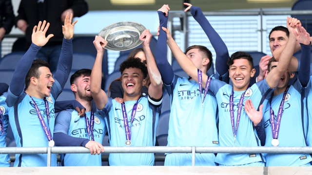 ARMS IN THE AIR: City celebrate their big moment