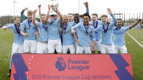 WINNERS: U16 Premier League Cup.