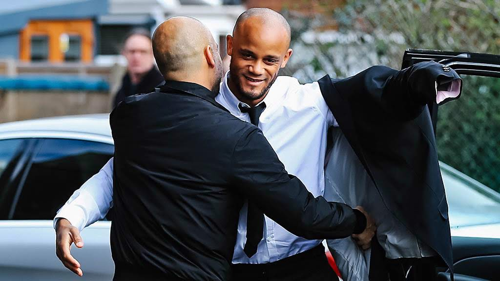 Current City managers Pep Guardiola and Nick Cushing were in attendance, as well as Captain Vincent Kompany.