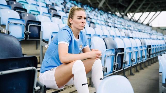 Women's first team player, Gemma Bonner.