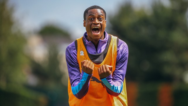 SUMMER HIGH: Nathanael Ogbeta looks delighted to be back in business