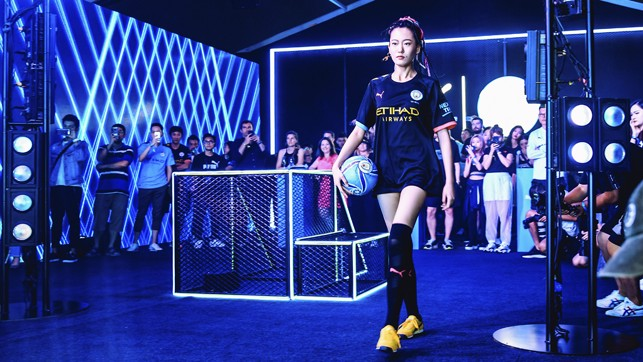MOOD: The new away kit was also on show