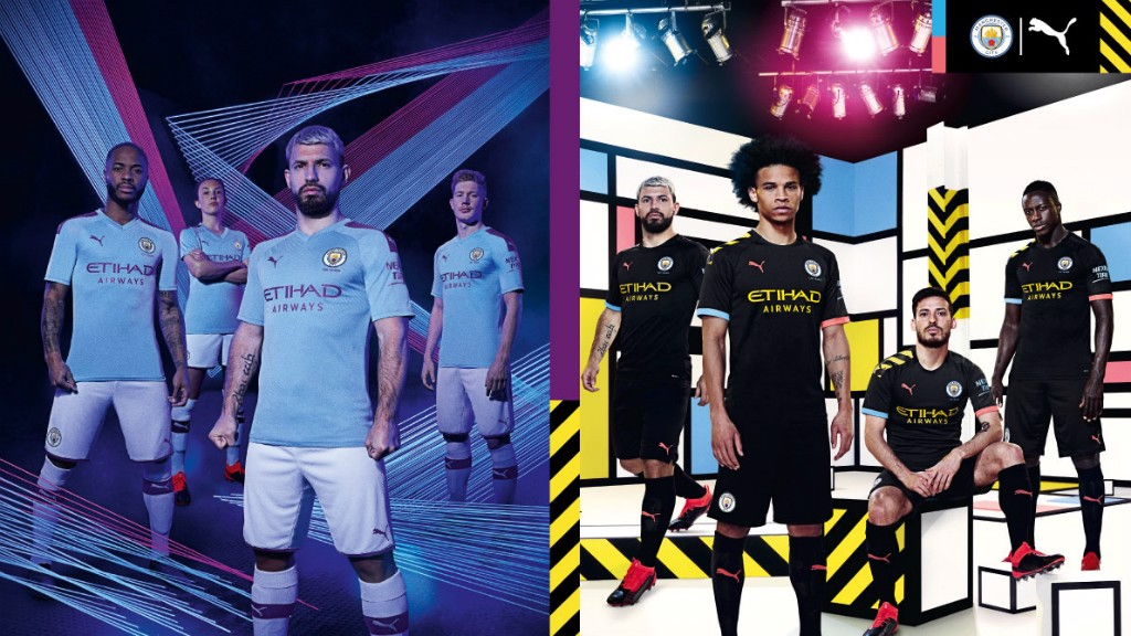 NEW KITS: Manchester City and PUMA today revealed their 2019/20 Home and Away kits, the first designs of their partnership, which pay tribute to Manchester's industrial and cultural heritage.