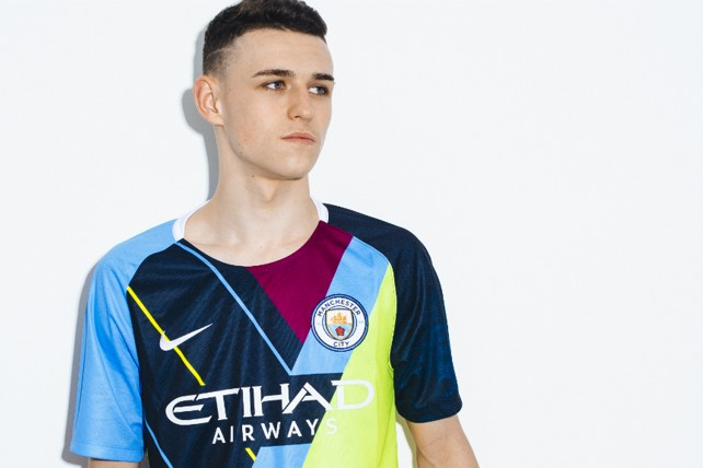 39b601137 BRIGHT YOUNG THING  Phil Foden proudly sports our celebration mashup shirt