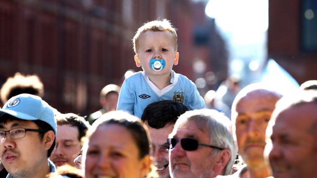 BOY BLUE: Fans of all ages turned out to celebrate with the Champions