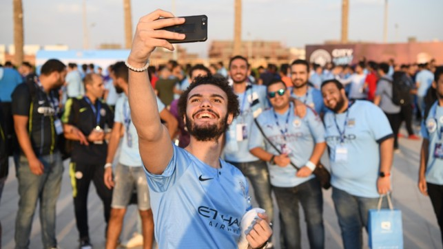CAPTURED: A group of fans in Egypt enjoy our fan festival.