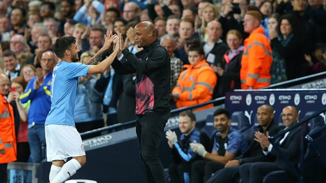 JOB DONE: David Silva departs early with Saturday's Premier League fixture in mind