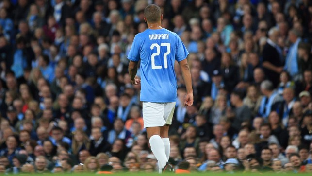 BROTHERLY LOVE: Francois Kompany makes his debut appearance at the Etihad
