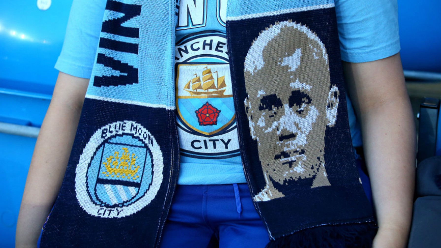A FAMILIAR FACE: The Etihad is up filling with special Vincent Kompany Testimonial scarves