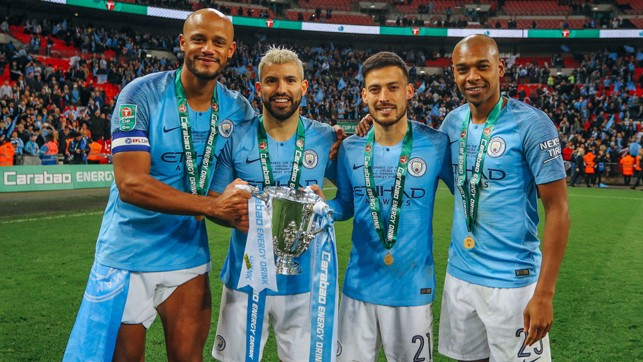 FANTASTIC FOUR: A quartet of greats with our fourth Carabao Cup of the decade.