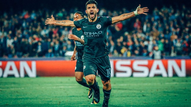 HISTORY MAKER: The moment Sergio Aguero became the Club's all-time leading scorer.