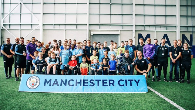 TOGETHER: Celebrating 10 years of City in the Community's One City disability football programme.