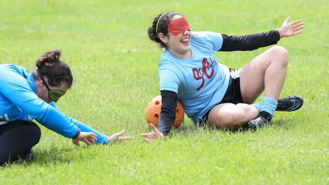 GOALBALL GOALKEEPING: Two Young Leaders get to grips with a new sport