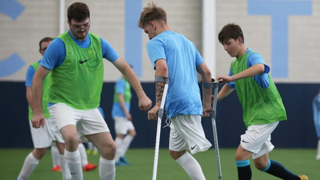 ACTION STATIONS: Manchester City host Amputee football sessions every Tuesday!