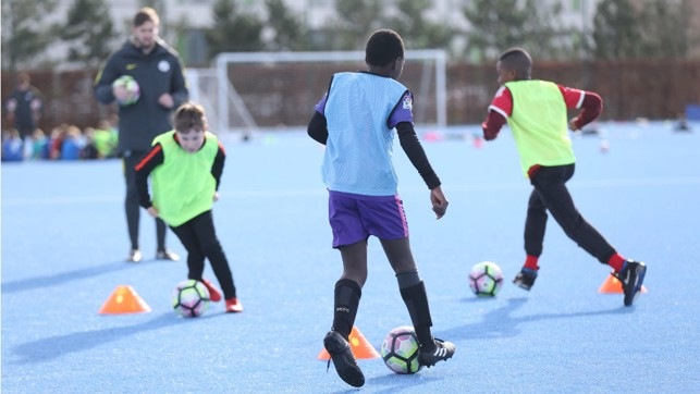 ON THE BALL: Sessions at the Boys Development Centre are held every Monday at the CFA!