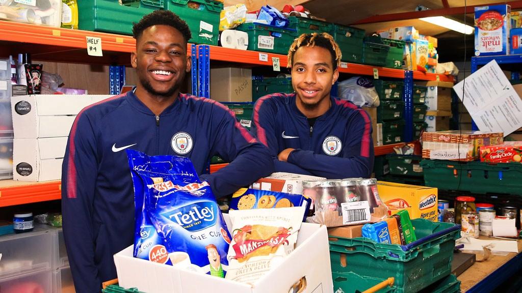 City make donation to Manchester foodbank