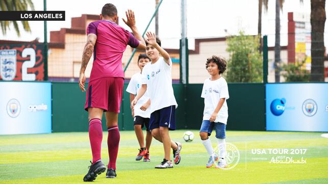 GOALS: Danilo gives a high five