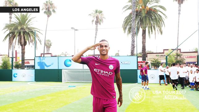 GOALS: Danilo salutes