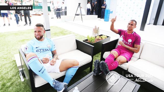 GOALS: Nico and Danilo chill