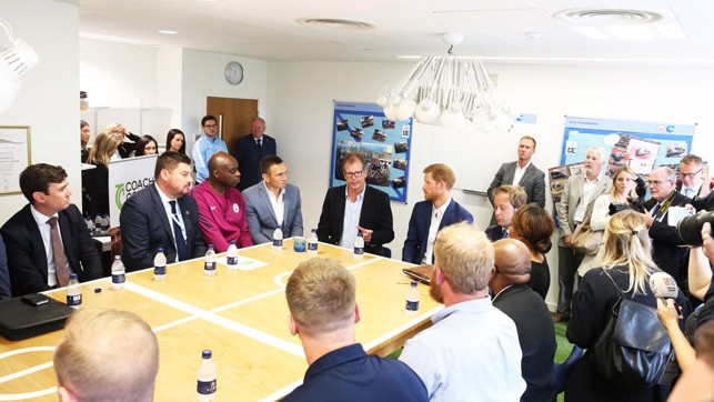 HRH Prince Harry round table discussion with Coach Core consortium
