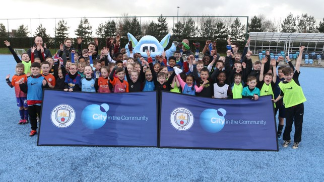 SOCCER SCHOOL: Moonchester and the kids at CFA