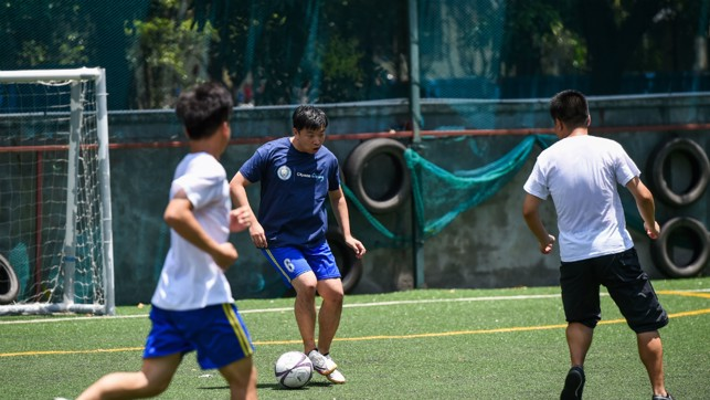 DEVELOPMENT: 24 Young Leaders from the 'Special Olympics East Asia Unified Schools' in Beijing were also invited to access a three-day Cityzens Giving leadership course offering cutting edge training in community football.
