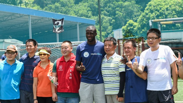 THUMBS UP: Yaya proved to be popular!