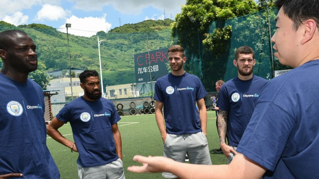 WELCOME: The Blues stars attended the Unified Schools Football Training project in Beijing.
