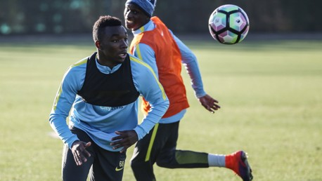 BACK IN THE SWING OF IT: Thierry Ambrose fits in with the rest of the squad