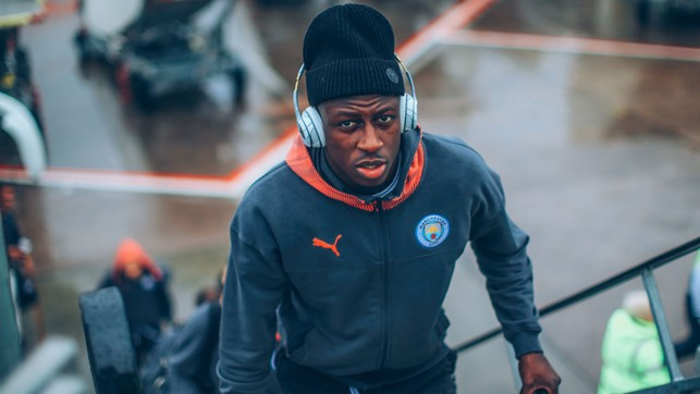 FOCUS TIME: Benjamin Mendy is a study in concentration ahead of departure