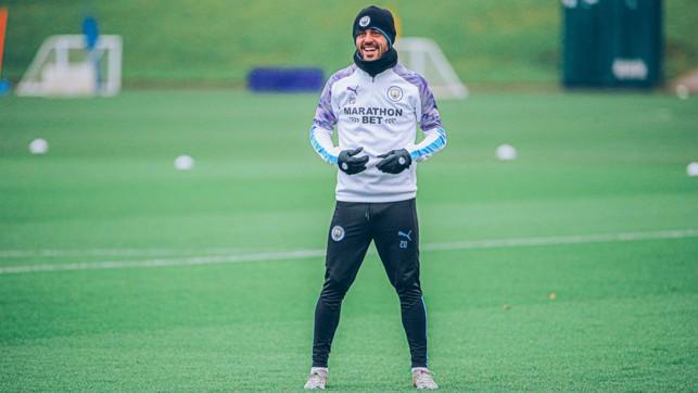 STATIC SILVA: Bernardo waits for the ball