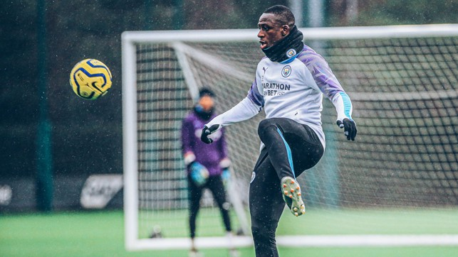 EYES ON THE PRIZE: Benjamin Mendy brings the ball under control
