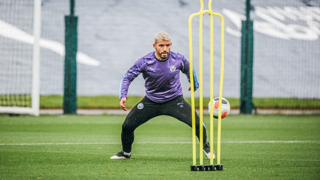 TARGET MAN: Sergio Aguero looks primed for action!