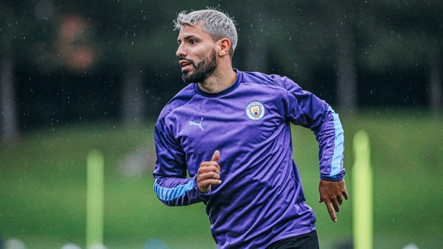PURPLE REIGN: Kun gets into the swing of things during Monday's session