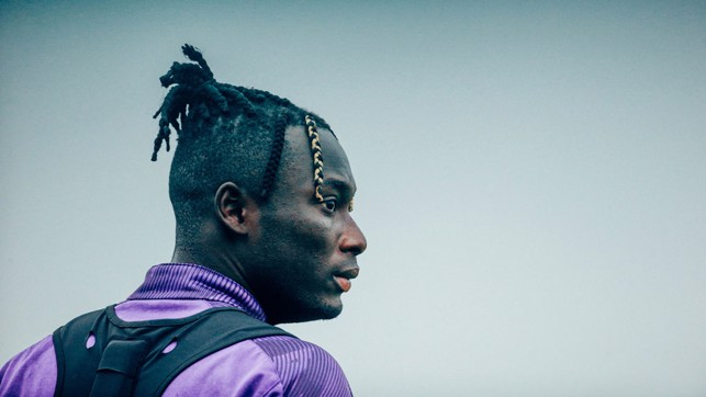 HAIR WE GO: Alpha Diounkou sported a nifty new hairstyle at Monday's session