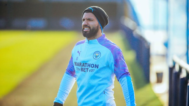 HE'S BACK: Sergio Aguero returned to training with the squad.