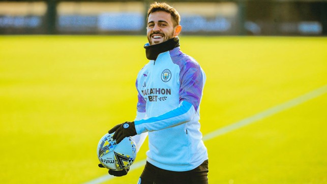 SMILEY SILVA: Bernardo beams at a sunny CFA.