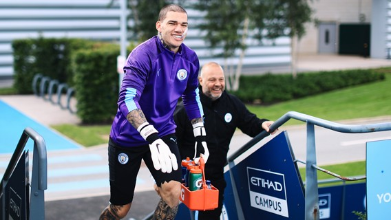 HAIR TODAY:  Ederson shows off his new look