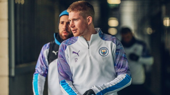 LIMBERING UP: Kevin De Bruyne gets ready for training