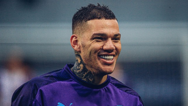 FROM EAR TO EAR:  A BIG grin from Ederson.
